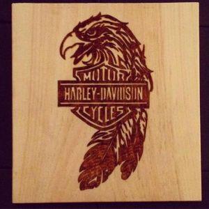 harley-wood-burning