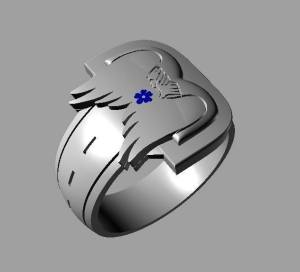 The BDS stainless steel ring designed specifically by us. FOR SALE at Riding In Style Leather  for $40, with proceeds going to BDS to aide NS bikers. Go get yours today!!!!  Support your local bikers helping bikers.